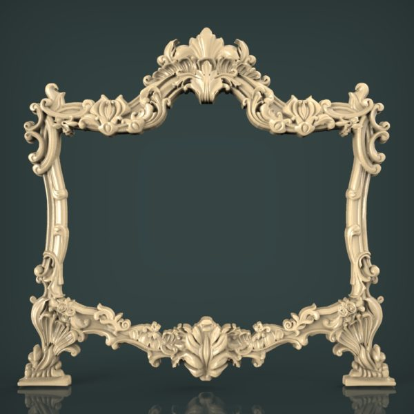 3d STL Model for CNC and 3d Printer Mirror Frame 1614