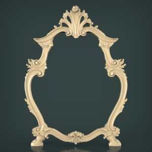 3d STL Model for CNC and 3d Printer Mirror Frame 1615