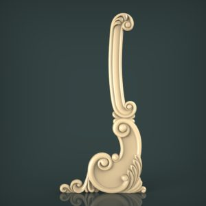 3d STL Model for CNC and 3d Printer Decor 1618