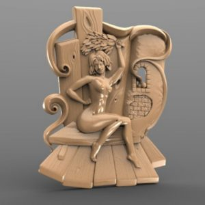 3D STL Model for CNC and 3d Printer - Bas-Relief (1818)