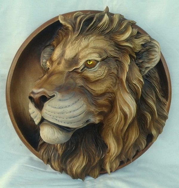 "3D STL Model for CNC and 3d Printer - Bas-Relief ""Lion"""