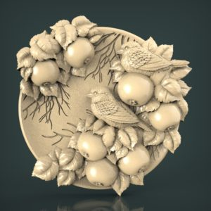 "3D STL Model for CNC and 3d Printer - Bas-Relief ""Sparrow"""
