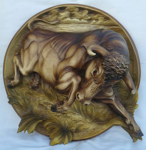 """3D STL Model for CNC and 3d Printer - Bas-Relief """"Bull"""""""
