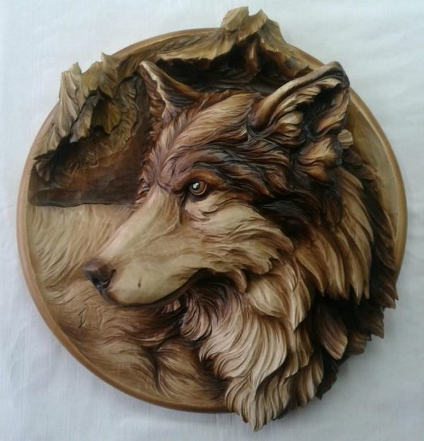 """3D STL Model for CNC and 3d Printer - Bas-Relief """"Wolf"""" (1830)"""