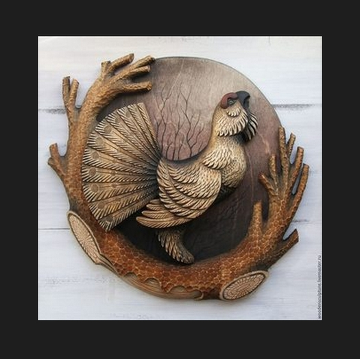 """3D STL Model for CNC and 3d Printer - Bas-Relief """"Pheasant"""""""