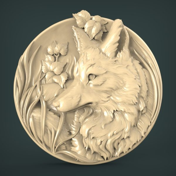 "3D STL Model for CNC and 3d Printer - Bas-Relief ""Fox"""
