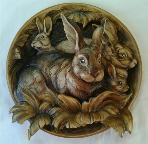 """3D STL Model for CNC and 3d Printer - Bas-Relief """"Rabbit"""""""