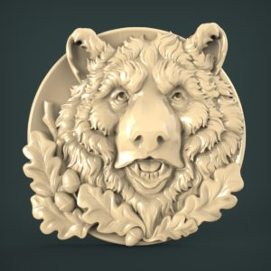 "3D STL Model for CNC and 3d Printer - Bas-Relief ""Bear"""