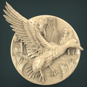 "3D STL Model for CNC and 3d Printer - Bas-Relief ""Drake"""