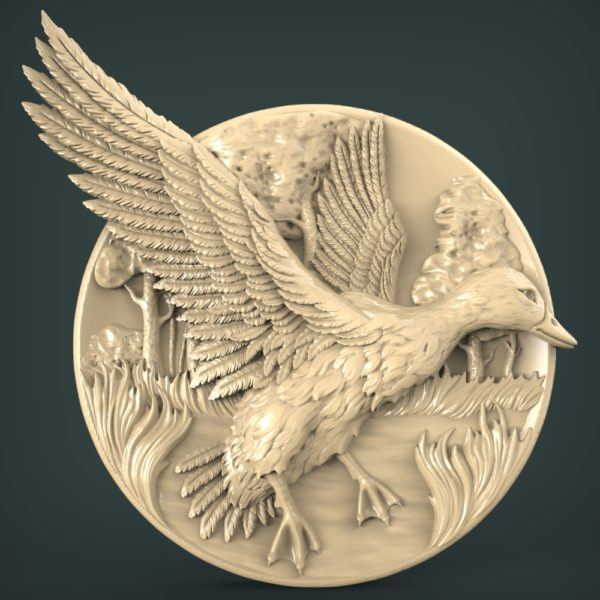 """3D STL Model for CNC and 3d Printer - Bas-Relief """"Drake"""""""