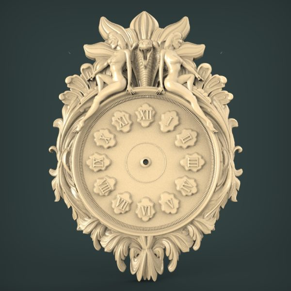 3D STL Model for CNC and 3d Printer - Clock