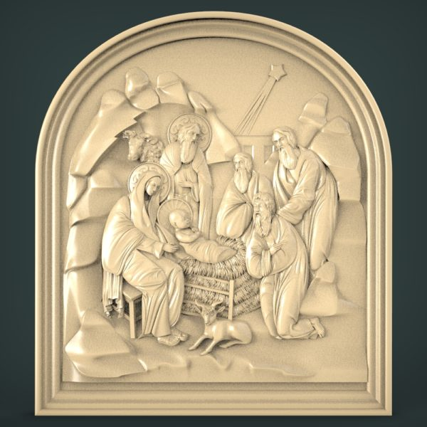 3D STL Model for CNC and 3d Printer - Christmas