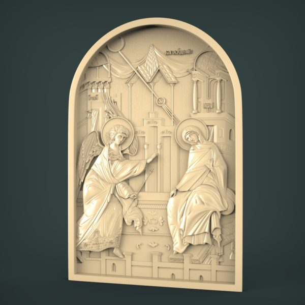 3D STL Model for CNC and 3d Printer - Annunciation of the Virgin