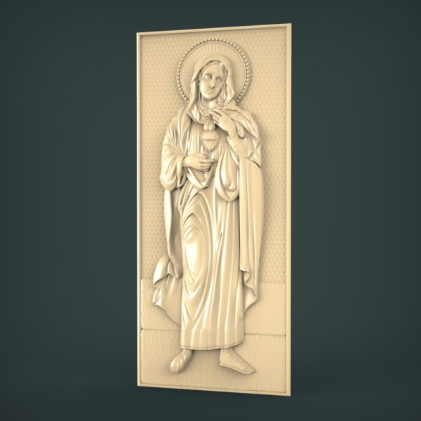 "3D STL Model for CNC and 3d Printer - Icon ""Saint Mary"""