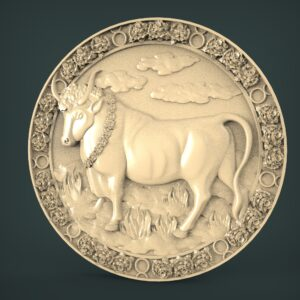 "3D STL Model for CNC and 3d Printer - Bas-Relief ""Taurus"""