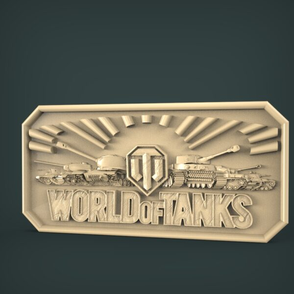 "3D STL Model for CNC and 3d Printer - Bas-Relief ""World of tanks"""