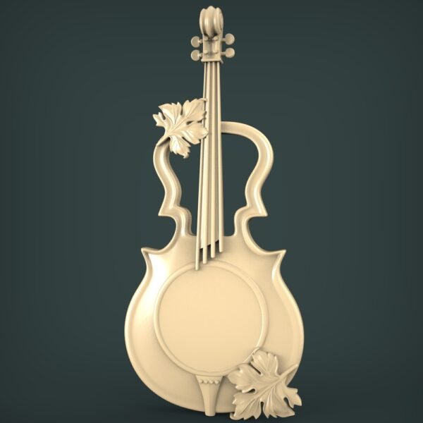 """3D STL Model for CNC and 3d Printer - Bas-Relief """"Cello"""""""