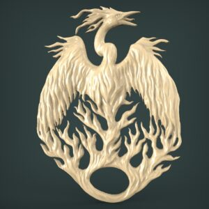 "3D STL Model for CNC and 3d Printer - Bas-Relief ""Firebird"""