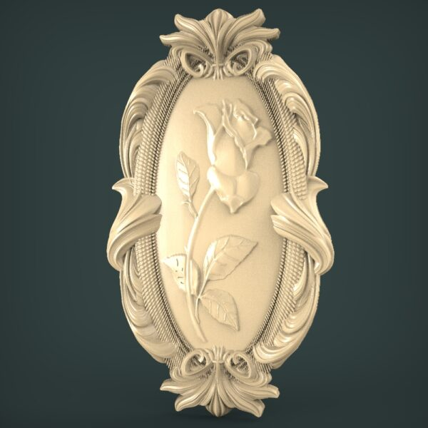 """3D STL Model for CNC and 3d Printer - Bas-Relief """"Rose"""""""