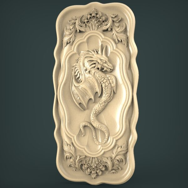 "3D STL Model for CNC and 3d Printer - Bas-Relief ""Dragon"""
