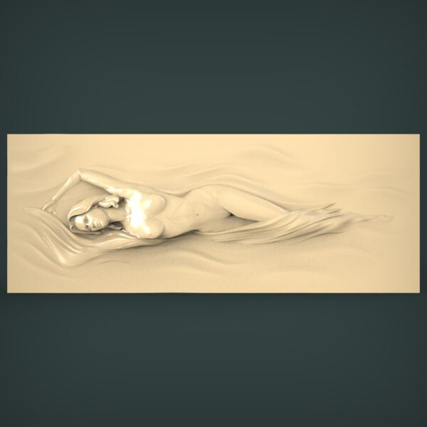 """3D STL Model for CNC and 3d Printer - Bas-Relief """"Naked girl"""""""