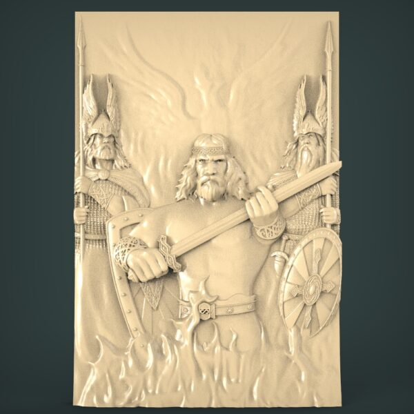"""3D STL Model for CNC and 3d Printer - Bas-Relief """"Knights"""""""