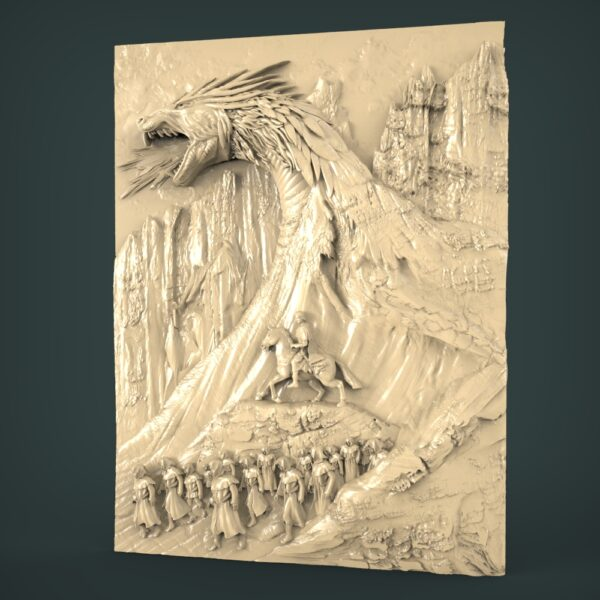 "3D STL Model for CNC and 3d Printer - Bas-Relief ""Zmey Gorynych"""