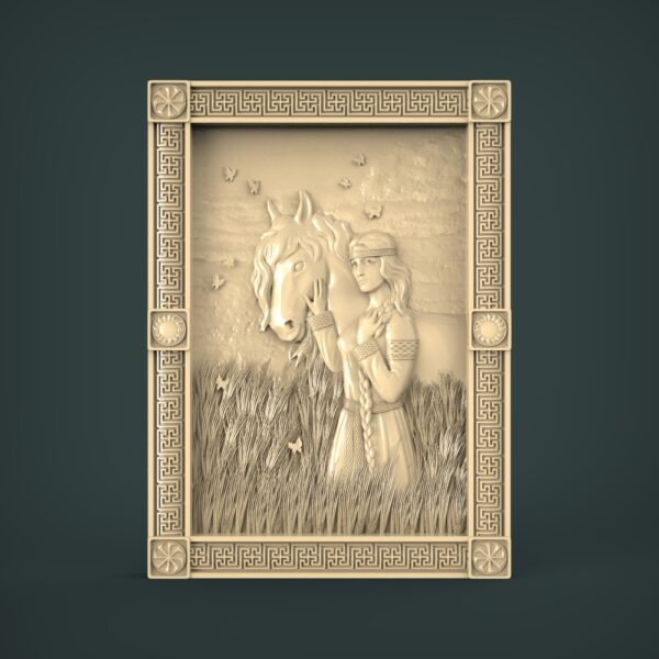 """3D STL Model for CNC and 3d Printer - Bas-Relief """"Horse"""""""