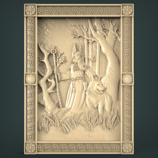3D STL Model for CNC and 3d Printer - Bas-Relief