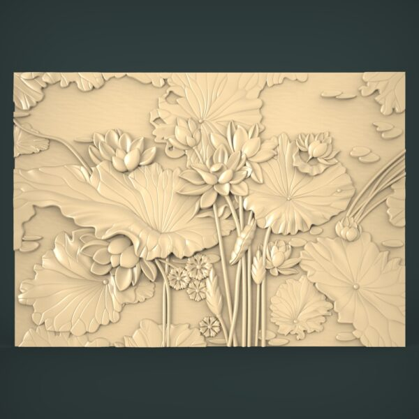 """3D STL Model for CNC and 3d Printer - Bas-Relief """"Flowers"""""""