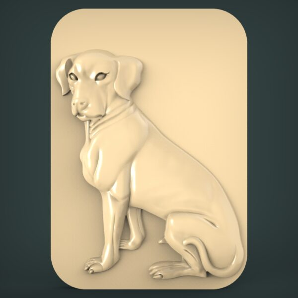 """3D STL Model for CNC and 3d Printer - Bas-Relief """"Dog"""""""