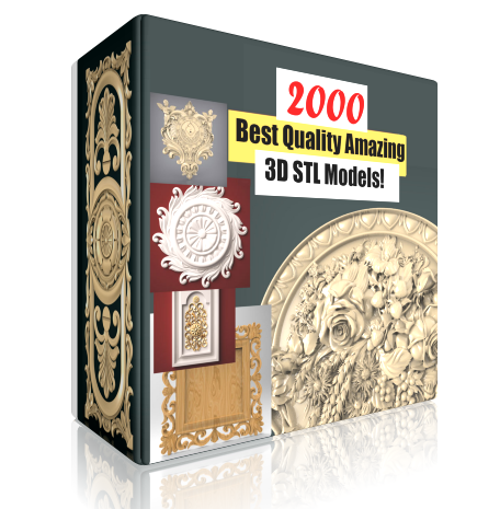 2000 STL Models for CNC and 3D Printer